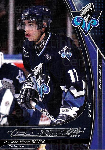 2003-04 Rimouski Oceanic #4 Jean-Michel Bolduc<br/>4 In Stock - $3.00 each - <a href=https://centericecollectibles.foxycart.com/cart?name=2003-04%20Rimouski%20Oceanic%20%234%20Jean-Michel%20Bol...&quantity_max=4&price=$3.00&code=509703 class=foxycart> Buy it now! </a>