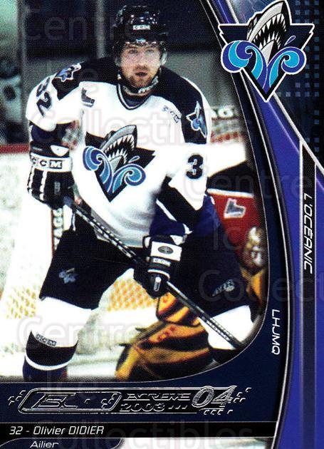 2003-04 Rimouski Oceanic #9 Olivier Didier<br/>3 In Stock - $3.00 each - <a href=https://centericecollectibles.foxycart.com/cart?name=2003-04%20Rimouski%20Oceanic%20%239%20Olivier%20Didier...&quantity_max=3&price=$3.00&code=509708 class=foxycart> Buy it now! </a>