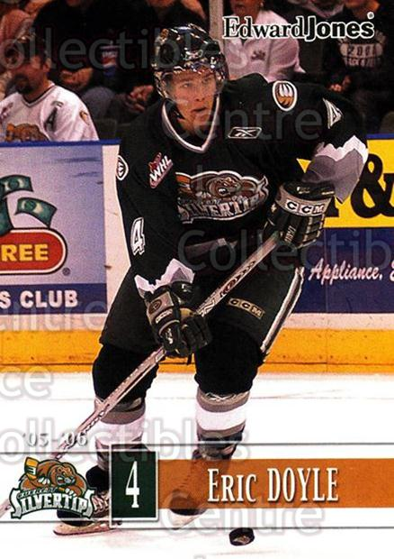 2005-06 Everett Silvertips #4 Eric Doyle<br/>5 In Stock - $3.00 each - <a href=https://centericecollectibles.foxycart.com/cart?name=2005-06%20Everett%20Silvertips%20%234%20Eric%20Doyle...&price=$3.00&code=509767 class=foxycart> Buy it now! </a>