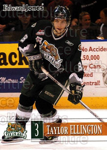 2005-06 Everett Silvertips #5 Taylor Ellington<br/>5 In Stock - $3.00 each - <a href=https://centericecollectibles.foxycart.com/cart?name=2005-06%20Everett%20Silvertips%20%235%20Taylor%20Ellingto...&price=$3.00&code=509768 class=foxycart> Buy it now! </a>