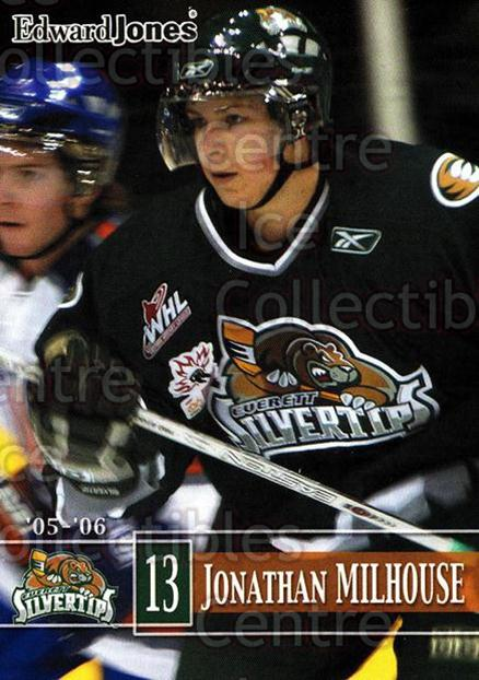 2005-06 Everett Silvertips #17 Jonathan Milhouse<br/>5 In Stock - $3.00 each - <a href=https://centericecollectibles.foxycart.com/cart?name=2005-06%20Everett%20Silvertips%20%2317%20Jonathan%20Milhou...&price=$3.00&code=509780 class=foxycart> Buy it now! </a>