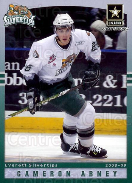 2008-09 Everett Silvertips #2 Cameron Abney<br/>2 In Stock - $3.00 each - <a href=https://centericecollectibles.foxycart.com/cart?name=2008-09%20Everett%20Silvertips%20%232%20Cameron%20Abney...&price=$3.00&code=509795 class=foxycart> Buy it now! </a>