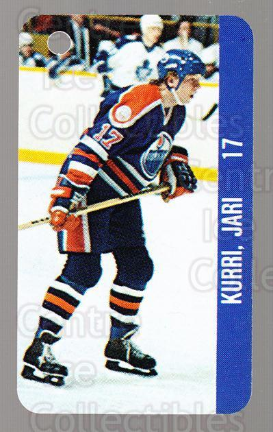1983-84 NHL Key Tags #40 Jari Kurri, Charlie Huddy<br/>5 In Stock - $3.00 each - <a href=https://centericecollectibles.foxycart.com/cart?name=1983-84%20NHL%20Key%20Tags%20%2340%20Jari%20Kurri,%20Cha...&quantity_max=5&price=$3.00&code=509852 class=foxycart> Buy it now! </a>