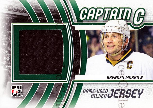 2011-12 ITG Captain C Jersey Silver #3 Brenden Morrow<br/>2 In Stock - $5.00 each - <a href=https://centericecollectibles.foxycart.com/cart?name=2011-12%20ITG%20Captain%20C%20Jersey%20Silver%20%233%20Brenden%20Morrow...&quantity_max=2&price=$5.00&code=510338 class=foxycart> Buy it now! </a>