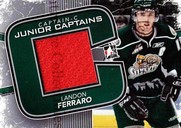 2011-12 ITG Captain C Junior Captains Jersey Silver #5 Landon Ferraro<br/>1 In Stock - $5.00 each - <a href=https://centericecollectibles.foxycart.com/cart?name=2011-12%20ITG%20Captain%20C%20Junior%20Captains%20Jersey%20Silver%20%235%20Landon%20Ferraro...&price=$5.00&code=510460 class=foxycart> Buy it now! </a>