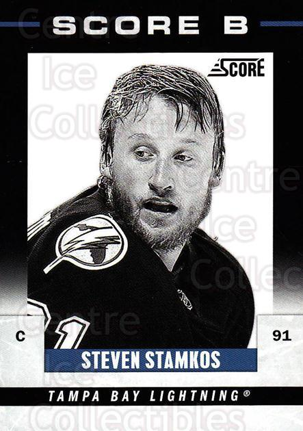 2011-12 Score B #7 Steven Stamkos<br/>1 In Stock - $3.00 each - <a href=https://centericecollectibles.foxycart.com/cart?name=2011-12%20Score%20B%20%237%20Steven%20Stamkos...&price=$3.00&code=510552 class=foxycart> Buy it now! </a>