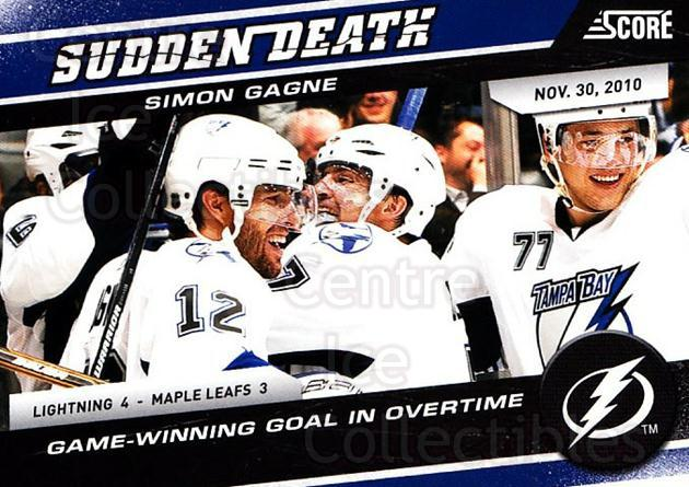 2011-12 Score Sudden Death #3 Simon Gagne<br/>2 In Stock - $2.00 each - <a href=https://centericecollectibles.foxycart.com/cart?name=2011-12%20Score%20Sudden%20Death%20%233%20Simon%20Gagne...&quantity_max=2&price=$2.00&code=510593 class=foxycart> Buy it now! </a>