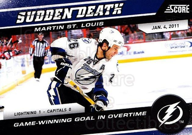 2011-12 Score Sudden Death #23 Martin St. Louis<br/>2 In Stock - $2.00 each - <a href=https://centericecollectibles.foxycart.com/cart?name=2011-12%20Score%20Sudden%20Death%20%2323%20Martin%20St.%20Loui...&quantity_max=2&price=$2.00&code=510613 class=foxycart> Buy it now! </a>