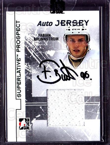 2009-10 ITG Superlative Prospect Jersey Auto Silver #PAJFB Fabian Brunnstrom<br/>1 In Stock - $10.00 each - <a href=https://centericecollectibles.foxycart.com/cart?name=2009-10%20ITG%20Superlative%20Prospect%20Jersey%20Auto%20Silver%20%23PAJFB%20Fabian%20Brunnstr...&quantity_max=1&price=$10.00&code=511245 class=foxycart> Buy it now! </a>