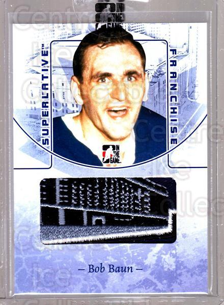 2008-09 ITG Superlative Franchise Patch Blue #4 Bob Baun<br/>1 In Stock - $15.00 each - <a href=https://centericecollectibles.foxycart.com/cart?name=2008-09%20ITG%20Superlative%20Franchise%20Patch%20Blue%20%234%20Bob%20Baun...&price=$15.00&code=511353 class=foxycart> Buy it now! </a>