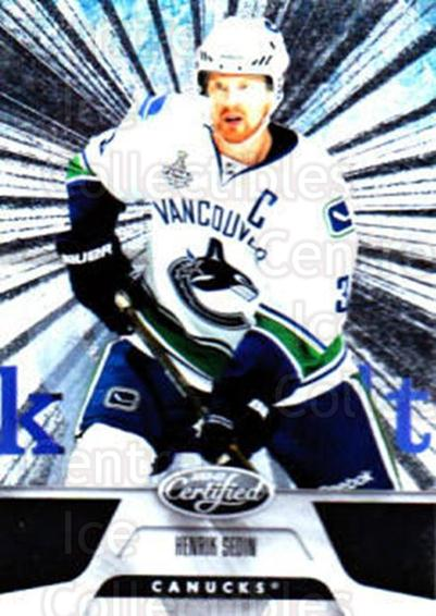 2011-12 Certified Totally Silver #132 Henrik Sedin<br/>3 In Stock - $2.00 each - <a href=https://centericecollectibles.foxycart.com/cart?name=2011-12%20Certified%20Totally%20Silver%20%23132%20Henrik%20Sedin...&quantity_max=3&price=$2.00&code=511959 class=foxycart> Buy it now! </a>