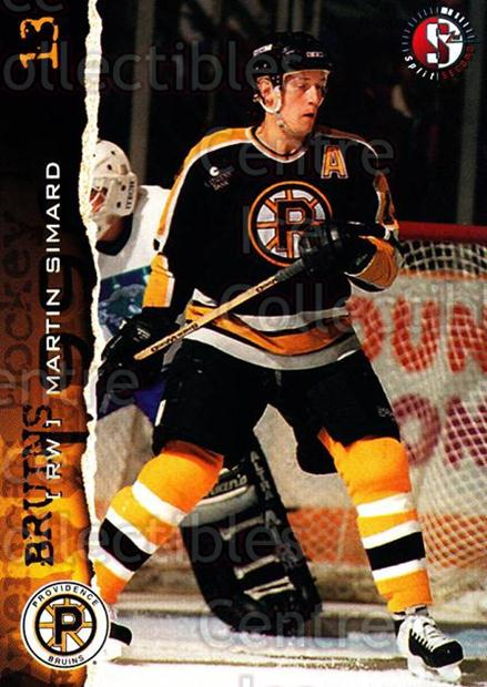 1996-97 Providence Bruins #6 Martin Simard<br/>8 In Stock - $3.00 each - <a href=https://centericecollectibles.foxycart.com/cart?name=1996-97%20Providence%20Bruins%20%236%20Martin%20Simard...&price=$3.00&code=51218 class=foxycart> Buy it now! </a>