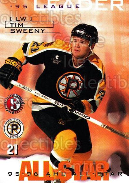 1996-97 Providence Bruins #10 Tim Sweeney<br/>8 In Stock - $3.00 each - <a href=https://centericecollectibles.foxycart.com/cart?name=1996-97%20Providence%20Bruins%20%2310%20Tim%20Sweeney...&price=$3.00&code=51222 class=foxycart> Buy it now! </a>