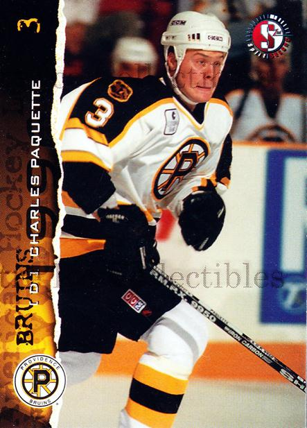1996-97 Providence Bruins #1 Charles Paquette<br/>8 In Stock - $3.00 each - <a href=https://centericecollectibles.foxycart.com/cart?name=1996-97%20Providence%20Bruins%20%231%20Charles%20Paquett...&price=$3.00&code=51224 class=foxycart> Buy it now! </a>