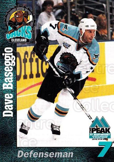 1998-99 Cleveland Lumberjacks #3 Dave Baseggio<br/>2 In Stock - $3.00 each - <a href=https://centericecollectibles.foxycart.com/cart?name=1998-99%20Cleveland%20Lumberjacks%20%233%20Dave%20Baseggio...&quantity_max=2&price=$3.00&code=512349 class=foxycart> Buy it now! </a>