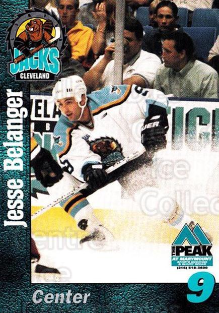 1998-99 Cleveland Lumberjacks #4 Jesse Belanger<br/>1 In Stock - $3.00 each - <a href=https://centericecollectibles.foxycart.com/cart?name=1998-99%20Cleveland%20Lumberjacks%20%234%20Jesse%20Belanger...&quantity_max=1&price=$3.00&code=512350 class=foxycart> Buy it now! </a>