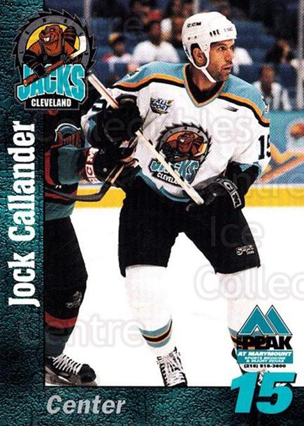 1998-99 Cleveland Lumberjacks #8 Jock Callander<br/>2 In Stock - $3.00 each - <a href=https://centericecollectibles.foxycart.com/cart?name=1998-99%20Cleveland%20Lumberjacks%20%238%20Jock%20Callander...&quantity_max=2&price=$3.00&code=512354 class=foxycart> Buy it now! </a>