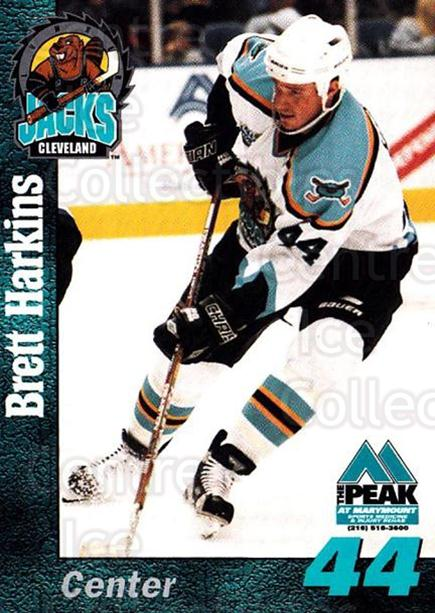 1998-99 Cleveland Lumberjacks #11 Brett Harkins<br/>2 In Stock - $3.00 each - <a href=https://centericecollectibles.foxycart.com/cart?name=1998-99%20Cleveland%20Lumberjacks%20%2311%20Brett%20Harkins...&quantity_max=2&price=$3.00&code=512357 class=foxycart> Buy it now! </a>