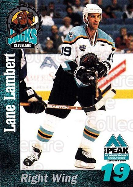 1998-99 Cleveland Lumberjacks #12 Lane Lambert<br/>1 In Stock - $3.00 each - <a href=https://centericecollectibles.foxycart.com/cart?name=1998-99%20Cleveland%20Lumberjacks%20%2312%20Lane%20Lambert...&quantity_max=1&price=$3.00&code=512358 class=foxycart> Buy it now! </a>