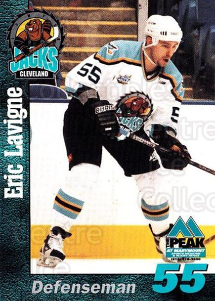 1998-99 Cleveland Lumberjacks #14 Eric Lavigne<br/>2 In Stock - $3.00 each - <a href=https://centericecollectibles.foxycart.com/cart?name=1998-99%20Cleveland%20Lumberjacks%20%2314%20Eric%20Lavigne...&quantity_max=2&price=$3.00&code=512360 class=foxycart> Buy it now! </a>