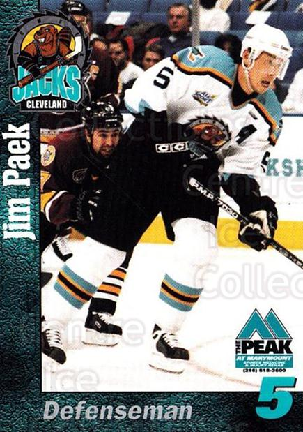 1998-99 Cleveland Lumberjacks #16 Jim Paek<br/>1 In Stock - $3.00 each - <a href=https://centericecollectibles.foxycart.com/cart?name=1998-99%20Cleveland%20Lumberjacks%20%2316%20Jim%20Paek...&quantity_max=1&price=$3.00&code=512362 class=foxycart> Buy it now! </a>