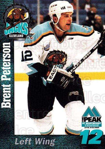1998-99 Cleveland Lumberjacks #18 Brent Peterson<br/>1 In Stock - $3.00 each - <a href=https://centericecollectibles.foxycart.com/cart?name=1998-99%20Cleveland%20Lumberjacks%20%2318%20Brent%20Peterson...&quantity_max=1&price=$3.00&code=512364 class=foxycart> Buy it now! </a>