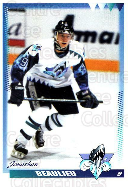 1996-97 Rimouski Oceanic #1 Jonathan Beaulieu<br/>4 In Stock - $3.00 each - <a href=https://centericecollectibles.foxycart.com/cart?name=1996-97%20Rimouski%20Oceanic%20%231%20Jonathan%20Beauli...&quantity_max=4&price=$3.00&code=51261 class=foxycart> Buy it now! </a>