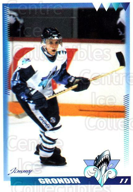 1996-97 Rimouski Oceanic #12 Jimmy Grondin<br/>4 In Stock - $3.00 each - <a href=https://centericecollectibles.foxycart.com/cart?name=1996-97%20Rimouski%20Oceanic%20%2312%20Jimmy%20Grondin...&quantity_max=4&price=$3.00&code=51264 class=foxycart> Buy it now! </a>