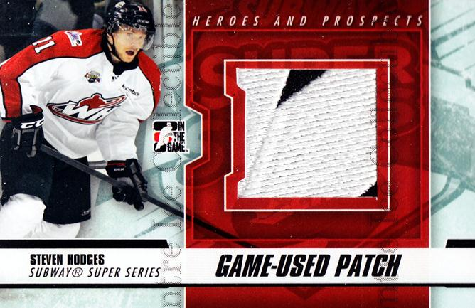 2012-13 ITG Heroes and Prospects Subway Patch Black #25 Stephen Hodges<br/>1 In Stock - $10.00 each - <a href=https://centericecollectibles.foxycart.com/cart?name=2012-13%20ITG%20Heroes%20and%20Prospects%20Subway%20Patch%20Black%20%2325%20Stephen%20Hodges...&quantity_max=1&price=$10.00&code=512747 class=foxycart> Buy it now! </a>