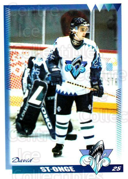 1996-97 Rimouski Oceanic #25 David St.Onge<br/>2 In Stock - $3.00 each - <a href=https://centericecollectibles.foxycart.com/cart?name=1996-97%20Rimouski%20Oceanic%20%2325%20David%20St.Onge...&quantity_max=2&price=$3.00&code=51278 class=foxycart> Buy it now! </a>