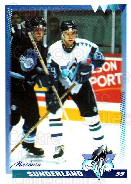 1996-97 Rimouski Oceanic #26 Mathieu Sunderland<br/>4 In Stock - $3.00 each - <a href=https://centericecollectibles.foxycart.com/cart?name=1996-97%20Rimouski%20Oceanic%20%2326%20Mathieu%20Sunderl...&quantity_max=4&price=$3.00&code=51279 class=foxycart> Buy it now! </a>