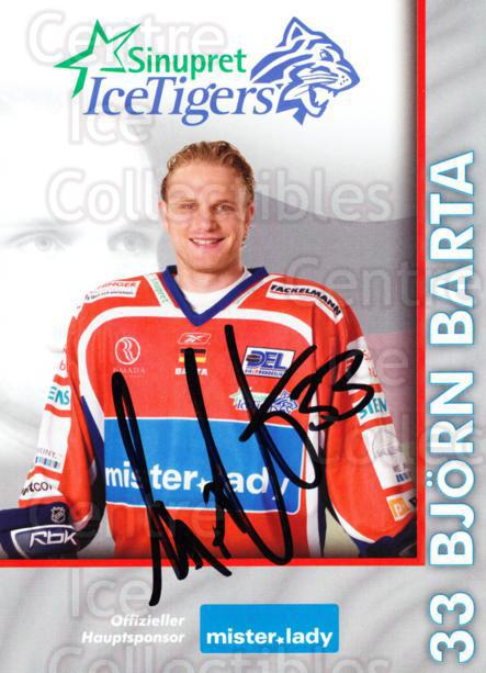 2007-08 German Sinupret Ice Tigers Postcards #1 Bjorn Barta<br/>1 In Stock - $3.00 each - <a href=https://centericecollectibles.foxycart.com/cart?name=2007-08%20German%20Sinupret%20Ice%20Tigers%20Postcards%20%231%20Bjorn%20Barta...&price=$3.00&code=512846 class=foxycart> Buy it now! </a>