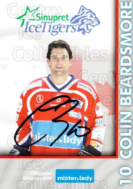 2007-08 German Sinupret Ice Tigers Postcards #2 Colin Beardsmore<br/>1 In Stock - $3.00 each - <a href=https://centericecollectibles.foxycart.com/cart?name=2007-08%20German%20Sinupret%20Ice%20Tigers%20Postcards%20%232%20Colin%20Beardsmor...&price=$3.00&code=512847 class=foxycart> Buy it now! </a>
