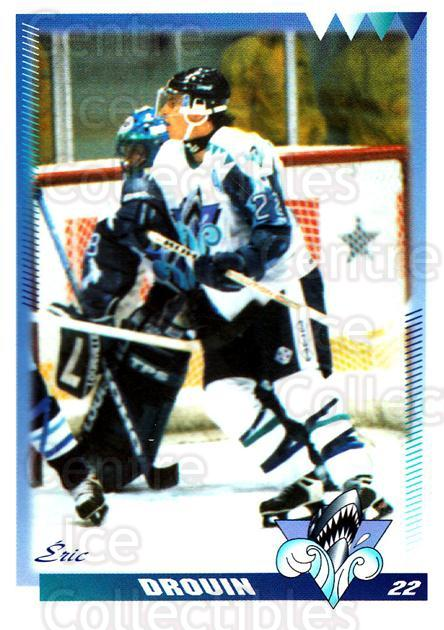 1996-97 Rimouski Oceanic #9 Eric Drouin<br/>2 In Stock - $3.00 each - <a href=https://centericecollectibles.foxycart.com/cart?name=1996-97%20Rimouski%20Oceanic%20%239%20Eric%20Drouin...&quantity_max=2&price=$3.00&code=51287 class=foxycart> Buy it now! </a>