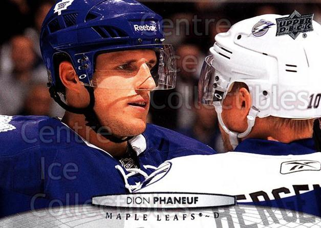 2011-12 Upper Deck #20 Dion Phaneuf<br/>12 In Stock - $1.00 each - <a href=https://centericecollectibles.foxycart.com/cart?name=2011-12%20Upper%20Deck%20%2320%20Dion%20Phaneuf...&price=$1.00&code=513821 class=foxycart> Buy it now! </a>