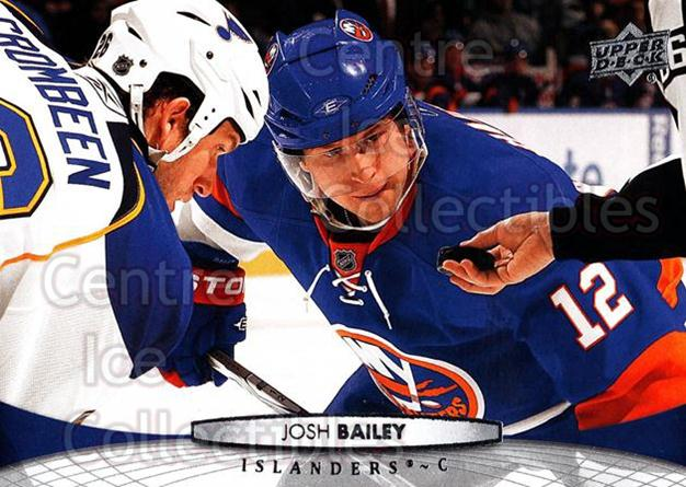 2011-12 Upper Deck #85 Josh Bailey<br/>12 In Stock - $1.00 each - <a href=https://centericecollectibles.foxycart.com/cart?name=2011-12%20Upper%20Deck%20%2385%20Josh%20Bailey...&quantity_max=12&price=$1.00&code=513886 class=foxycart> Buy it now! </a>