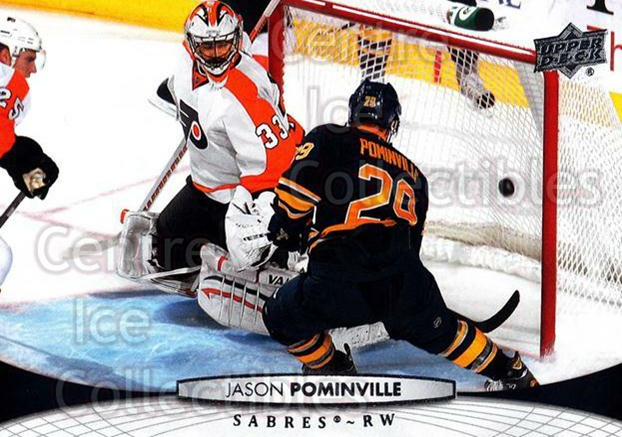 2011-12 Upper Deck #186 Jason Pominville<br/>10 In Stock - $1.00 each - <a href=https://centericecollectibles.foxycart.com/cart?name=2011-12%20Upper%20Deck%20%23186%20Jason%20Pominvill...&quantity_max=10&price=$1.00&code=513987 class=foxycart> Buy it now! </a>