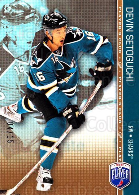2008-09 Be A Player #148 Devin Setoguchi<br/>3 In Stock - $2.00 each - <a href=https://centericecollectibles.foxycart.com/cart?name=2008-09%20Be%20A%20Player%20%23148%20Devin%20Setoguchi...&quantity_max=3&price=$2.00&code=514949 class=foxycart> Buy it now! </a>