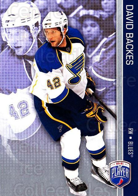2008-09 Be A Player #154 David Backes<br/>3 In Stock - $2.00 each - <a href=https://centericecollectibles.foxycart.com/cart?name=2008-09%20Be%20A%20Player%20%23154%20David%20Backes...&quantity_max=3&price=$2.00&code=514955 class=foxycart> Buy it now! </a>