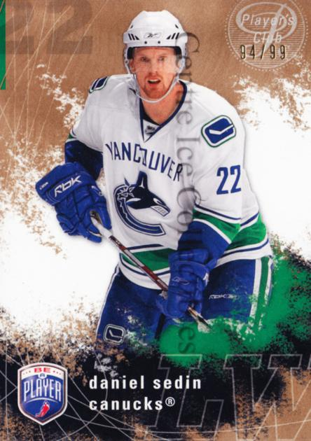 2007-08 Be A Player Players Club #189 Daniel Sedin<br/>1 In Stock - $5.00 each - <a href=https://centericecollectibles.foxycart.com/cart?name=2007-08%20Be%20A%20Player%20Players%20Club%20%23189%20Daniel%20Sedin...&price=$5.00&code=515315 class=foxycart> Buy it now! </a>