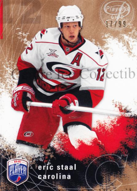 2007-08 Be A Player Players Club #35 Eric Staal<br/>1 In Stock - $5.00 each - <a href=https://centericecollectibles.foxycart.com/cart?name=2007-08%20Be%20A%20Player%20Players%20Club%20%2335%20Eric%20Staal...&quantity_max=1&price=$5.00&code=515343 class=foxycart> Buy it now! </a>