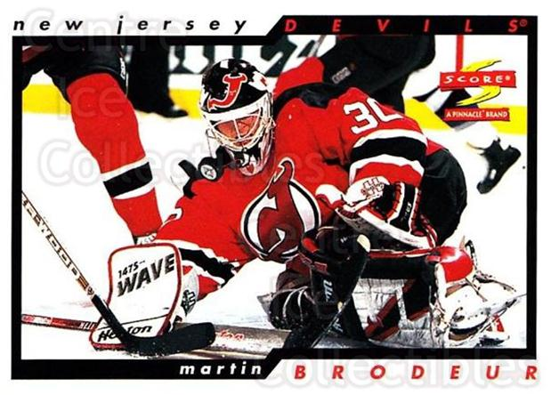 1996-97 Score #10 Martin Brodeur<br/>3 In Stock - $2.00 each - <a href=https://centericecollectibles.foxycart.com/cart?name=1996-97%20Score%20%2310%20Martin%20Brodeur...&price=$2.00&code=51627 class=foxycart> Buy it now! </a>
