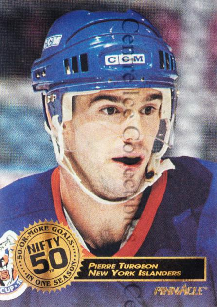 1993-94 Pinnacle Nifty Fifty #7 Pierre Turgeon<br/>1 In Stock - $5.00 each - <a href=https://centericecollectibles.foxycart.com/cart?name=1993-94%20Pinnacle%20Nifty%20Fifty%20%237%20Pierre%20Turgeon...&quantity_max=1&price=$5.00&code=5164 class=foxycart> Buy it now! </a>
