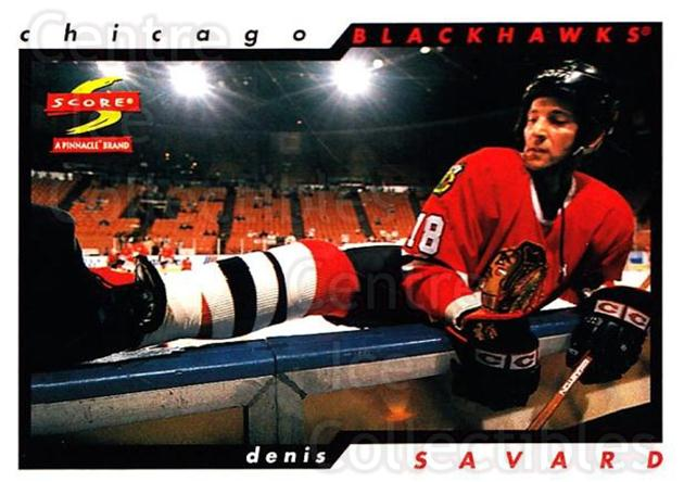 1996-97 Score #121 Denis Savard<br/>4 In Stock - $1.00 each - <a href=https://centericecollectibles.foxycart.com/cart?name=1996-97%20Score%20%23121%20Denis%20Savard...&quantity_max=4&price=$1.00&code=51651 class=foxycart> Buy it now! </a>