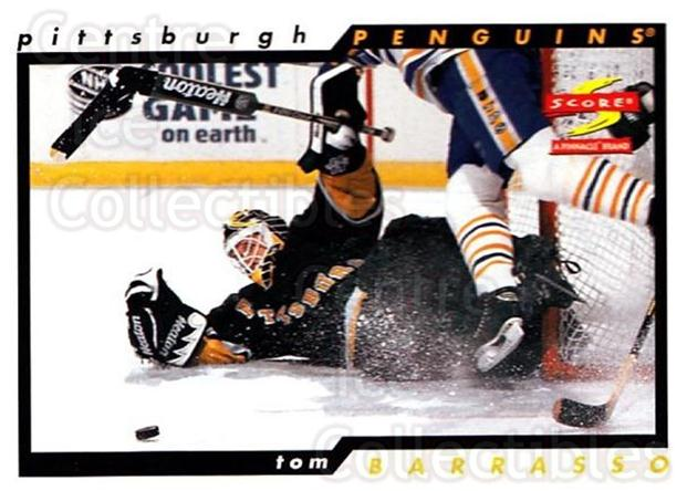 1996-97 Score #124 Tom Barrasso<br/>3 In Stock - $1.00 each - <a href=https://centericecollectibles.foxycart.com/cart?name=1996-97%20Score%20%23124%20Tom%20Barrasso...&quantity_max=3&price=$1.00&code=51654 class=foxycart> Buy it now! </a>