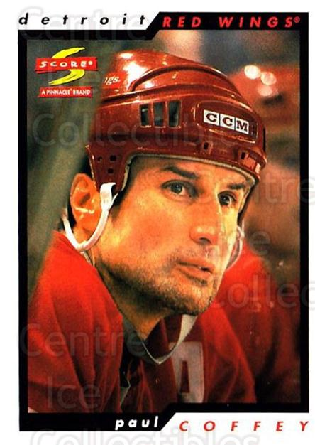1996-97 Score #142 Paul Coffey<br/>4 In Stock - $1.00 each - <a href=https://centericecollectibles.foxycart.com/cart?name=1996-97%20Score%20%23142%20Paul%20Coffey...&quantity_max=4&price=$1.00&code=51673 class=foxycart> Buy it now! </a>