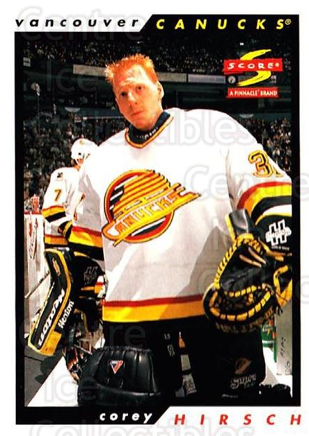 1996-97 Score #149 Corey Hirsch<br/>5 In Stock - $1.00 each - <a href=https://centericecollectibles.foxycart.com/cart?name=1996-97%20Score%20%23149%20Corey%20Hirsch...&quantity_max=5&price=$1.00&code=51680 class=foxycart> Buy it now! </a>