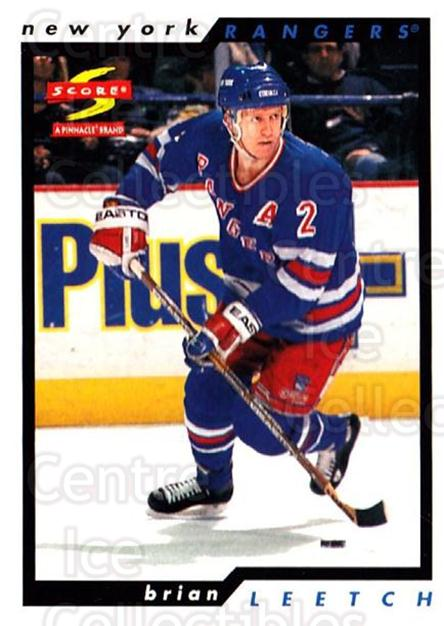 1996-97 Score #179 Brian Leetch<br/>4 In Stock - $1.00 each - <a href=https://centericecollectibles.foxycart.com/cart?name=1996-97%20Score%20%23179%20Brian%20Leetch...&quantity_max=4&price=$1.00&code=51711 class=foxycart> Buy it now! </a>