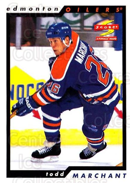 1996-97 Score #217 Todd Marchant<br/>5 In Stock - $1.00 each - <a href=https://centericecollectibles.foxycart.com/cart?name=1996-97%20Score%20%23217%20Todd%20Marchant...&quantity_max=5&price=$1.00&code=51754 class=foxycart> Buy it now! </a>