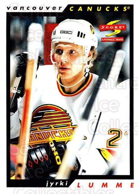 1996-97 Score #22 Jyrki Lumme<br/>4 In Stock - $1.00 each - <a href=https://centericecollectibles.foxycart.com/cart?name=1996-97%20Score%20%2322%20Jyrki%20Lumme...&quantity_max=4&price=$1.00&code=51757 class=foxycart> Buy it now! </a>